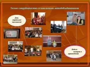 Тесное сотрудничество со школьними методобъединениями День української писемн