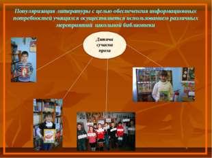 Популяризация литературы с целью обеспеченгия информационных потребностей уча