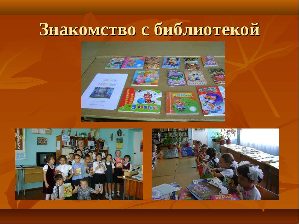 Час с знакомство классный библиотекой 1 класс