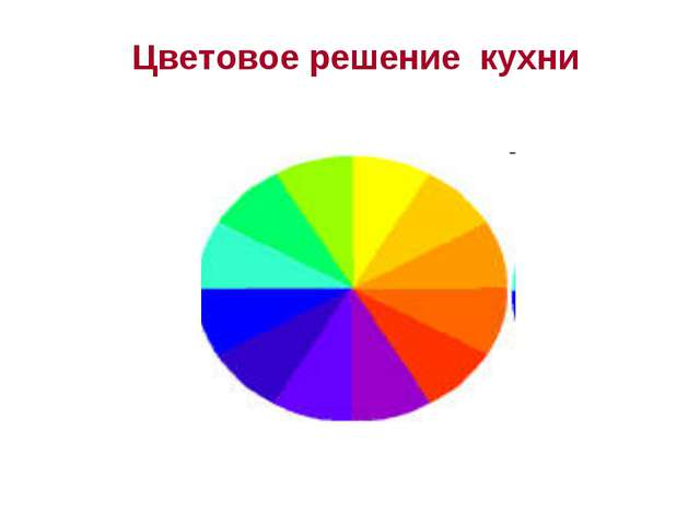 Цветовое решение кухни