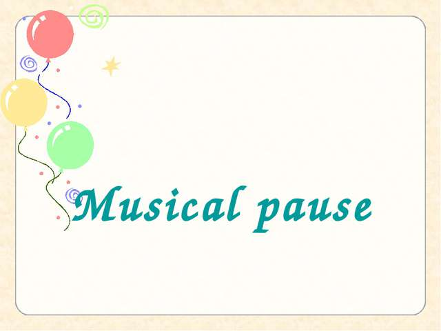 Musical pause