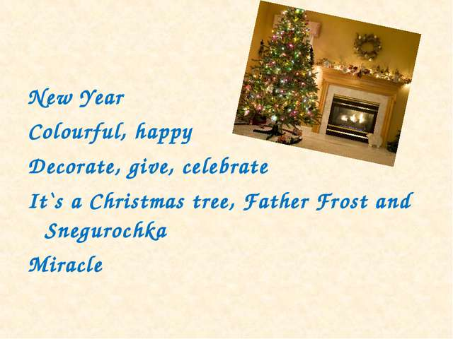 New Year Colourful, happy Decorate, give, celebrate It`s a Christmas tree, Fa...