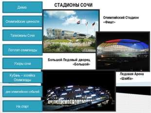 СТАДИОНЫ СОЧИ Дворец Зимнего Спорта «Айсберг» Конькобежный центр «Адлер-Арена