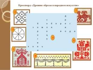 Кроссворд «Древние образы в народном искусстве» 1 3 2 6 4 7 5 д с р б о б е р