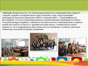 Гипотеза: Предполагается, что организация внеурочного взаимодействия учащихс