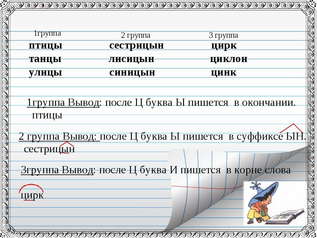 птицы сестрицын цирк танцы лисицын циклон улицы синицын цинк 1группа 2 групп...