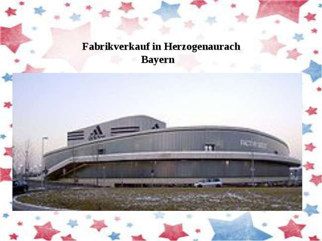 Fabrikverkaufin Herzogenaurach Bayern