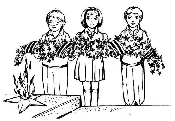 9 мая (День Победы) - раскраски для детей