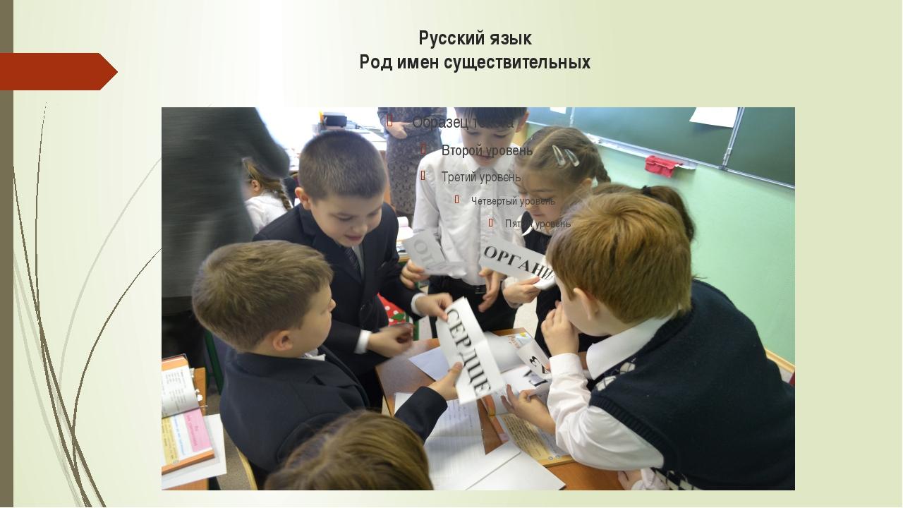 Русский язык Род имен существительных