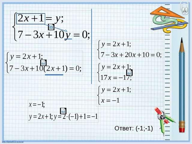 Ответ: (-1;-1)