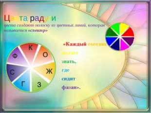 Цвета радуги цвета создают полоску из цветных линий, которая называется«спек