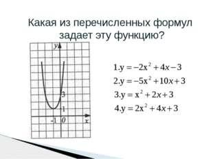 Какая из перечисленных формул задает эту функцию?