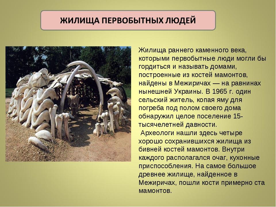 Жилища раннего каменного века, которыми первобытные люди могли бы гордиться...