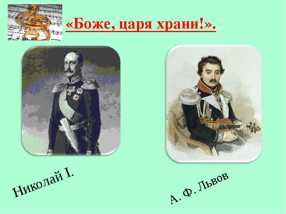 Николай I. «Боже, царя храни!». А. Ф. Львов