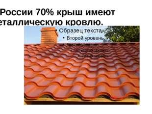 В России 70% крыш имеют металлическую кровлю.