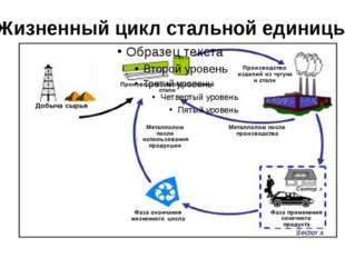 Жизненный цикл стальной единицы