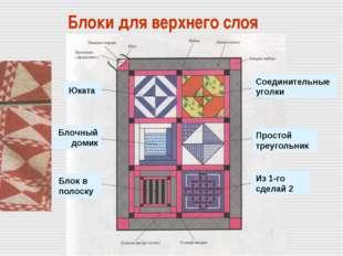 Блоки для верхнего слоя Соединительные уголки Простой треугольник Из 1-го сд
