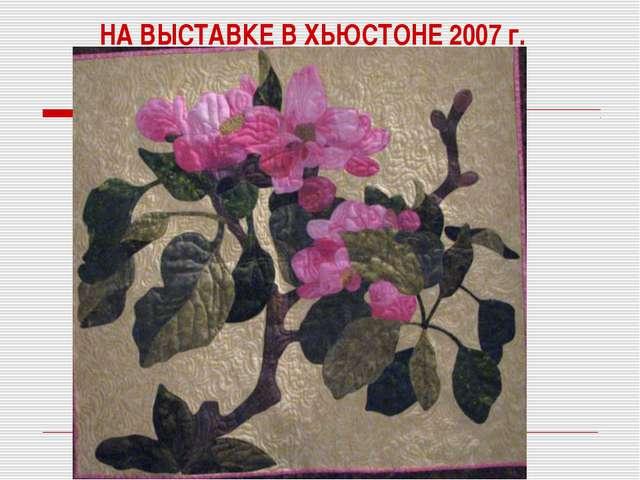 НА ВЫСТАВКЕ В ХЬЮСТОНЕ 2007 г.
