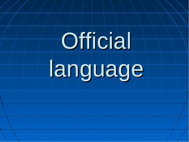 Official language