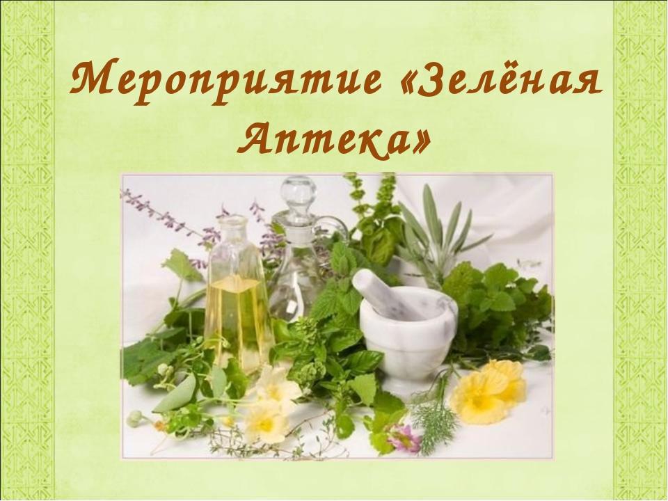 Мероприятие «Зелёная Аптека»