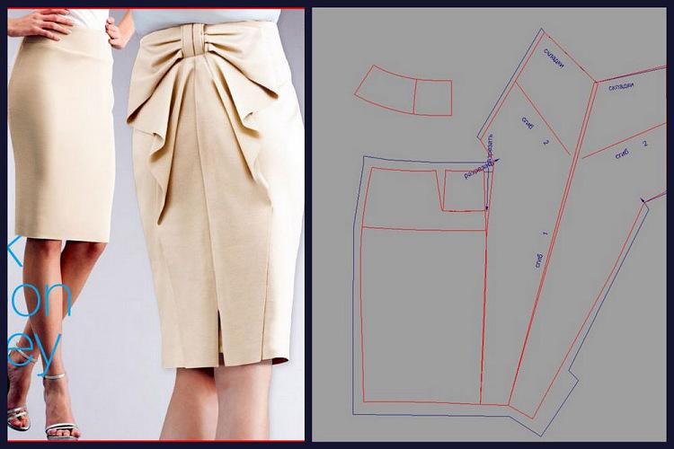 Выкройка стильной юбку
