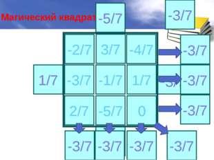 3/7 -3/7 -1/7 1/7 2/7 -5/7 0 1/7 -3/7 3/7 -5/7 -4/7 -2/7 -3/7 -3/7 -3/7 -3/7
