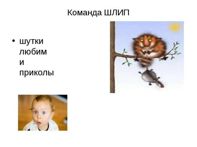 Команда ШЛИП шутки любим и приколы
