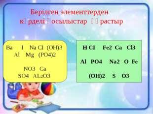 1. 20 (сол жақ) Д. И. Менделеевтің периодтық кестесінде неше период, неше топ