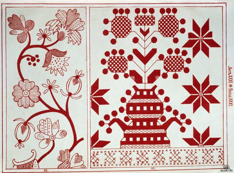 Орнаменты русской вышивки 76
