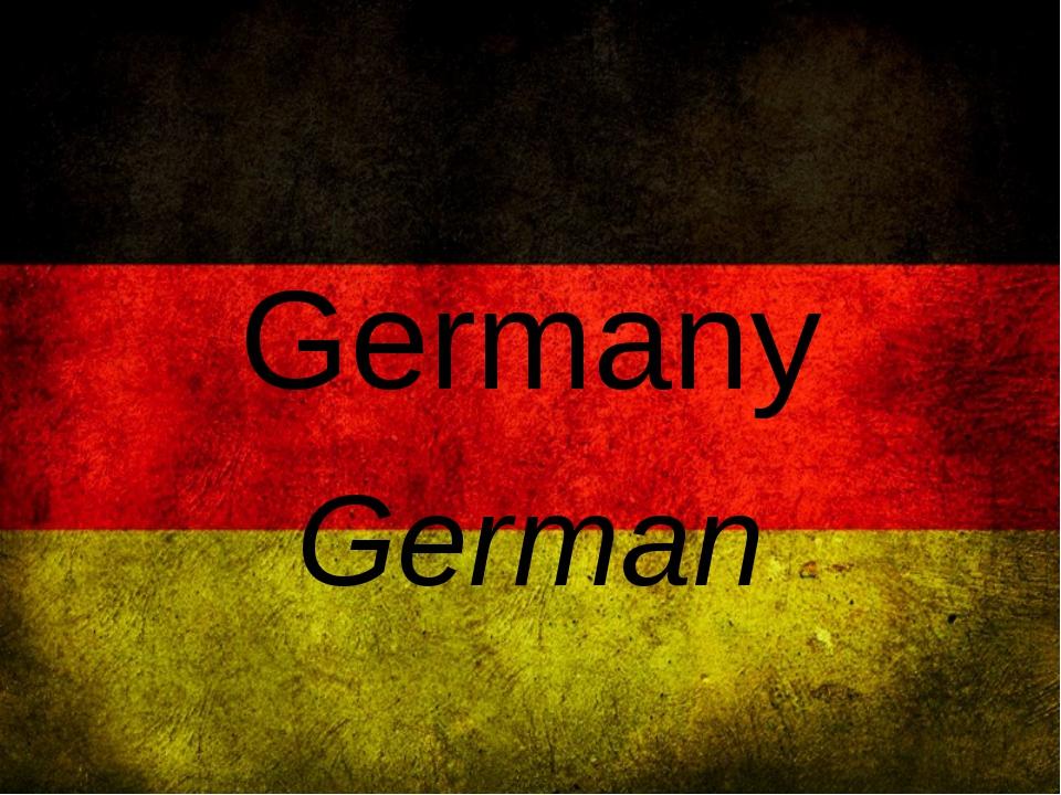 Germany German