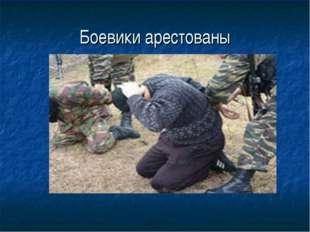 Боевики арестованы