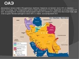 ОАЭ Доказанные запасы нефти Объединенных Арабских Эмиратов составляют около 1
