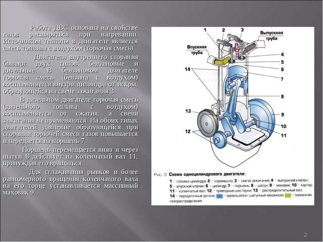 * Работа ДВС основана на свойстве газов расширяться при нагревании. Источнико...