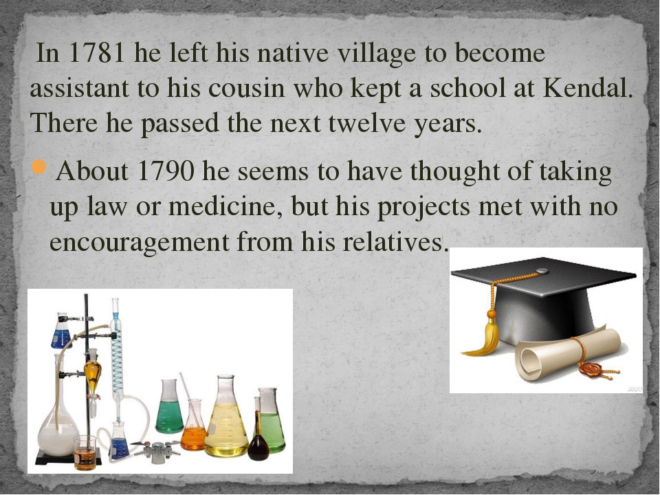 In 1781 he left his native village to become assistant to his cousin who kep...