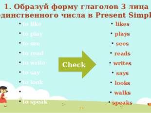 Put the verbs in brackets into the correct forms Поставь глаголы в скобках в