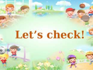 Let's check!