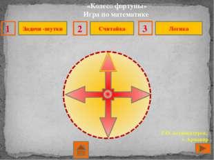 «Колесо фортуны» Игра по математике Г.О. Аствацатуров, г. Армавир Задачи -шу