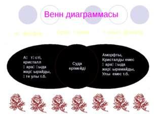 Венн диаграммасы Ақ фосфор Қызыл фосфор Ортақ қасиет Ақ түсті, кристалл Қараң