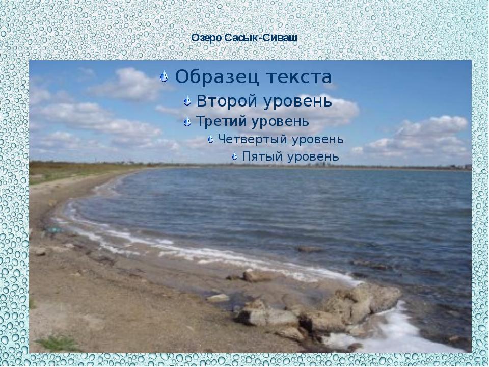 Озеро Сасык-Сиваш