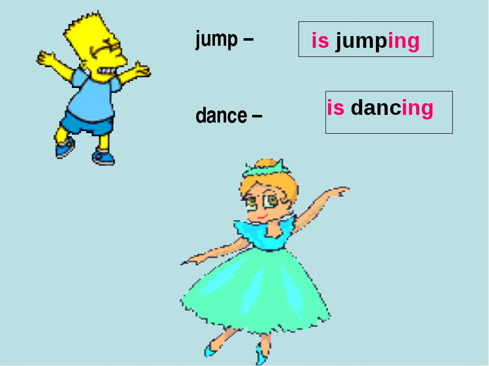 jump – dance – is jumping is dancing