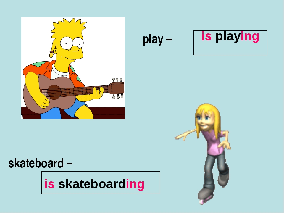 play – skateboard – is playing is skateboarding