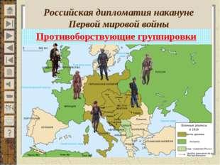 Российская дипломатия накануне Первой мировой войны Противоборствующие групп