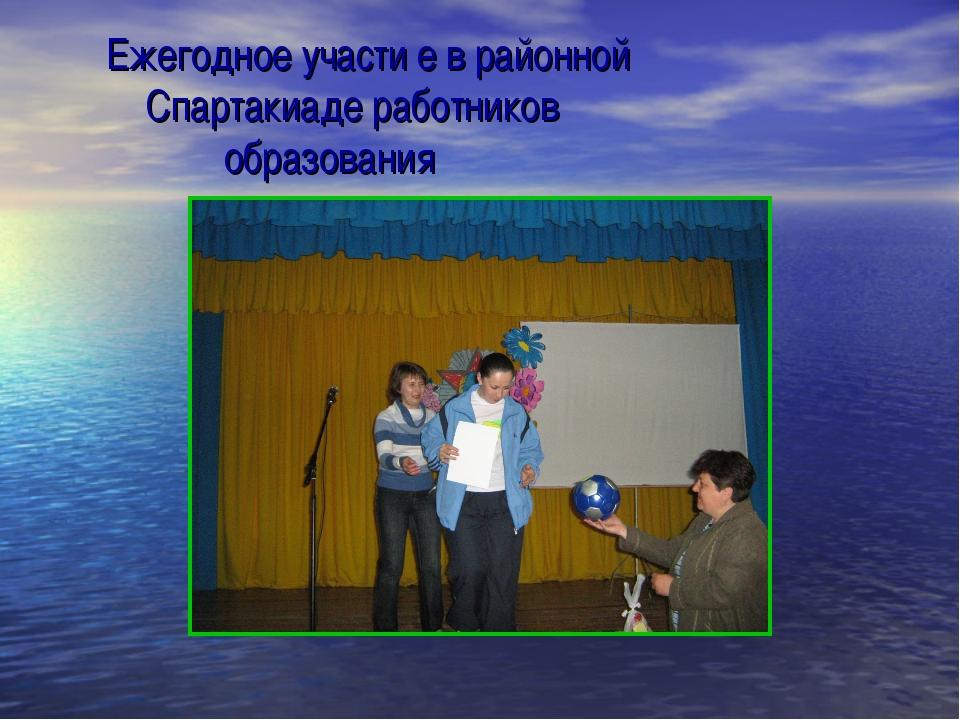 Ежегодное участи е в районной Спартакиаде работников образования