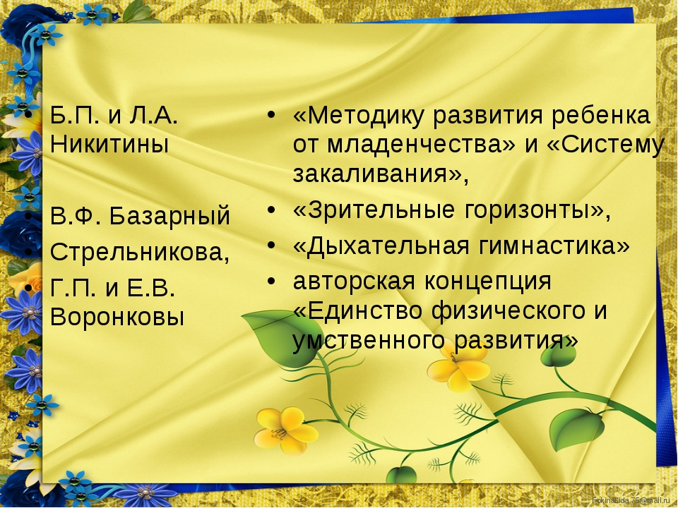 Б.П. и Л.А. Никитины  Б.П. и Л.А. Никитины  В.Ф. Базарный  Стрельникова,...