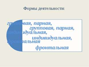 Формы деятельности: