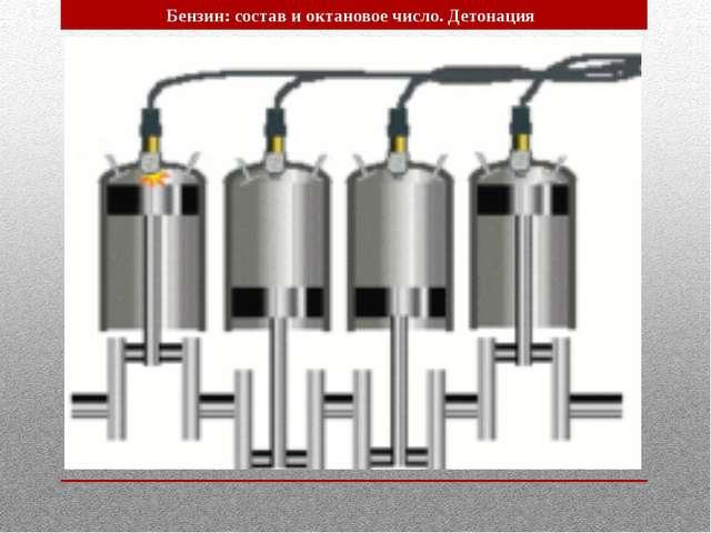 Бензин: состав и октановое число. Детонация