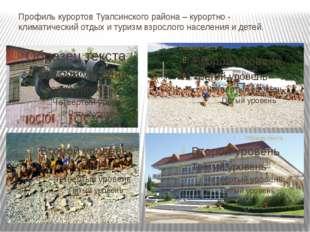 Профиль курортов Туапсинского района – курортно - климатический отдых и туриз