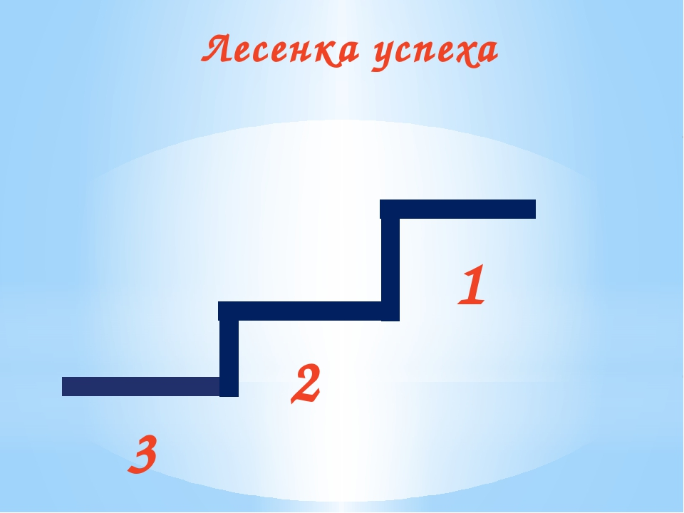 Лесенка успеха 3 2 1