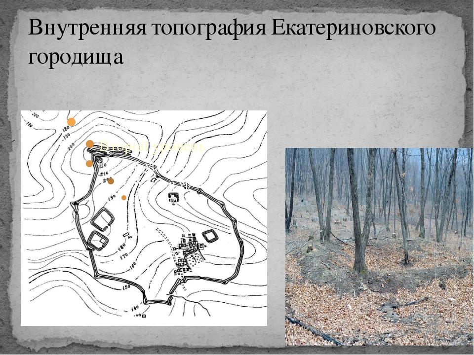 Внутренняя топография Екатериновского городища