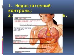 1. Недостаточный контроль; 2. Перенос аллергенов.